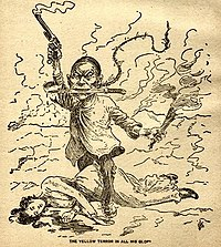 The yellow terror in all his glory&;, 1899 editorial cartoon