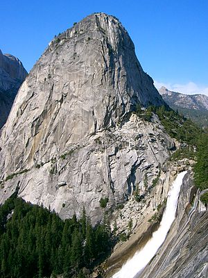 Granite dome - Image: Yosemite Nevada Fall 11