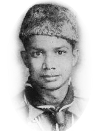 Muhammad Yunus - Yunus as a Boy Scout, in 1953