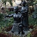 Yue Fei Mother Tattooing Yue Fei statues front 2016 January.jpg