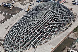 Binhai railway station - Image: Yujiap Traffic Hub ETFE Cushions Roof