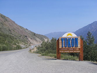 Yukon border sign on Klondike Highway 2.jpg