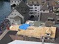 Zürich - Rüden - Zunfthaus zur Zimmerleuten - Sicht vom Grossmünster Karlsturm IMG 6407.JPG
