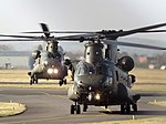 ZD982 With ZA720 Two Chinooks Helicopters (32154391034).jpg