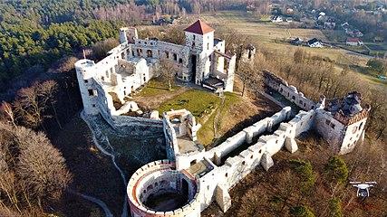 Zamek Tenczyn w Rudnie - z lotu ptaka.jpg