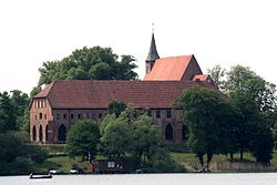 Monastery seen from the Schaalsee
