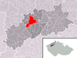 Location of Žatec