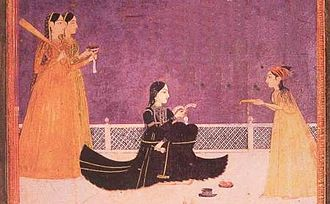 Zeb-un-Nissa - Princess Zeb-un-Nissa with her attendants.
