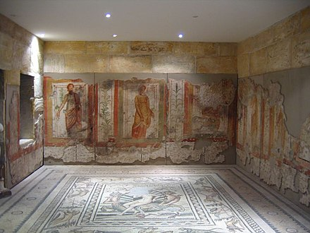 Wall paintings and floor mosaics in Zeugma Zeugma painting.jpg