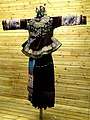 Zhuang woman embroidered, silver-ornamented dress - Yunnan Nationalities Museum - DSC04250.JPG