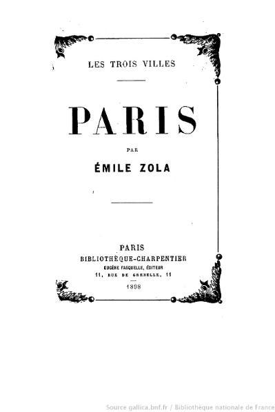 File:Zola - Les Trois Villes - Paris, 1898.djvu