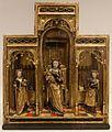 Zona di utrecht, altarolo domestico con maria tra le ss. caterina e barbara, 1475-1500 ca., con struttura forse eseguita a mechelen nel 1500-25 ca.jpg