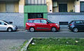 """14 - ITALY - Automobiles parking in Milan - three automobiles with 500 Living - facing right.jpg"