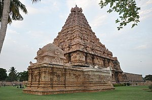 Brihadisvara Temple, Gangaikonda Cholapuram - The Ganesha shrine with the main Shiva temple