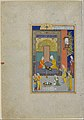 """Bahram Gur in the Yellow Palace on Sunday"", Folio 213 from a Khamsa (Quintet) of Nizami MET DP164643.jpg"