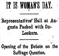 """It Is Woman's Day"" 1895-03-07 Lewiston Evening Journal.jpg"