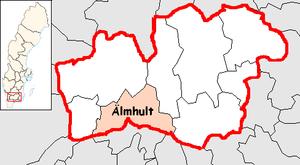Älmhult Municipality - Image: Älmhult Municipality in Kronoberg County
