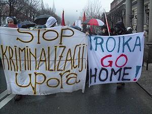European troika - 2013 protests against troika in Slovenia