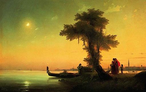 Вид на венецианскую лагуну Айвазовский