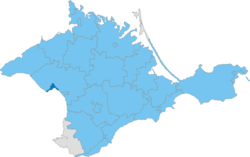 Location of the municipality (dark blue) in Crimea