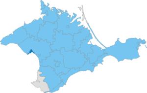 Yevpatoria Municipality - Image: Карта схема Крыма Евпаторийский горсовет