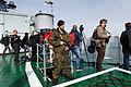 Работа иностранных журналистов на кораблях постоянной группировки ВМФ России в Средиземном море (2016-01) (4).jpg