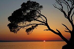 Brela - Sunset in Brela