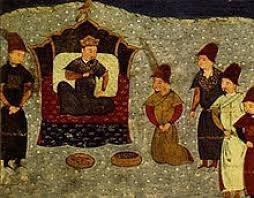 Цар Батий на престолі
