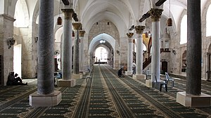 Great Mosque of Nablus - Inside the mosque