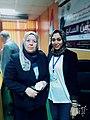 ساره عبداللطيف أ.د عزة إسماعيل عميد كلية العلوم جامعة المنصورة.jpg