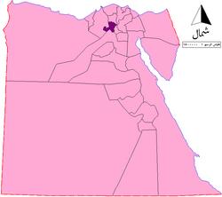 موقع محافظة المنوفية في مصر