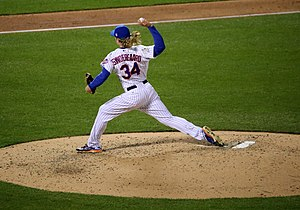 Noah Syndergaard - Syndergaard delivering a pitch in Game 3 of the 2015 World Series