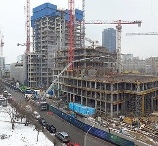 building under construction in Warsaw