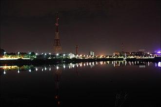 Cooum River - Coovum river as seen from the Napier Bridge