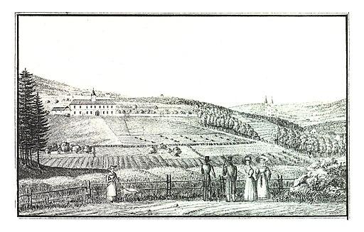 086 Graz-Kroisbach bei Maria-Grün, Schloss Kroisbach - J.F.Kaiser Lithografirte Ansichten der Steiermark 1830