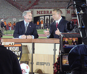 English: ESPN College GameDays Lee Corso (left...