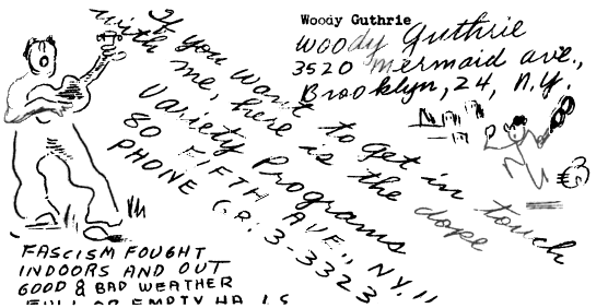 10 of the Woody Guthrie songs - contact details