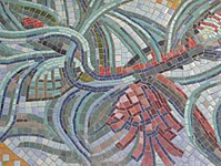 1170 Andergasse 10-12 - Ernest Bevin-Hof Stg 5 - Hauszeichen Föhre von Hans Foitik 1958 IMG 4857.jpg