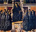 12 Francesco Botticini Sposalizio di santa Monica,Santa Monica in preghiera,Cristo in pietà tra santa Monica e sant'Agostino179-180cm. 1470-75.jpg