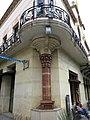 165 Ateneu Canetenc (Canet de Mar), columna exempta a la cantonada.JPG
