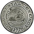 Obverse of the Continental Currency dollar coin