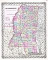 1855 Colton Map of Mississippi - Geographicus - Mississippi-colton-1855.jpg