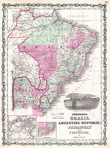 File 1862 johnson map of brazil paraguay uruguay and for Johnson argentina
