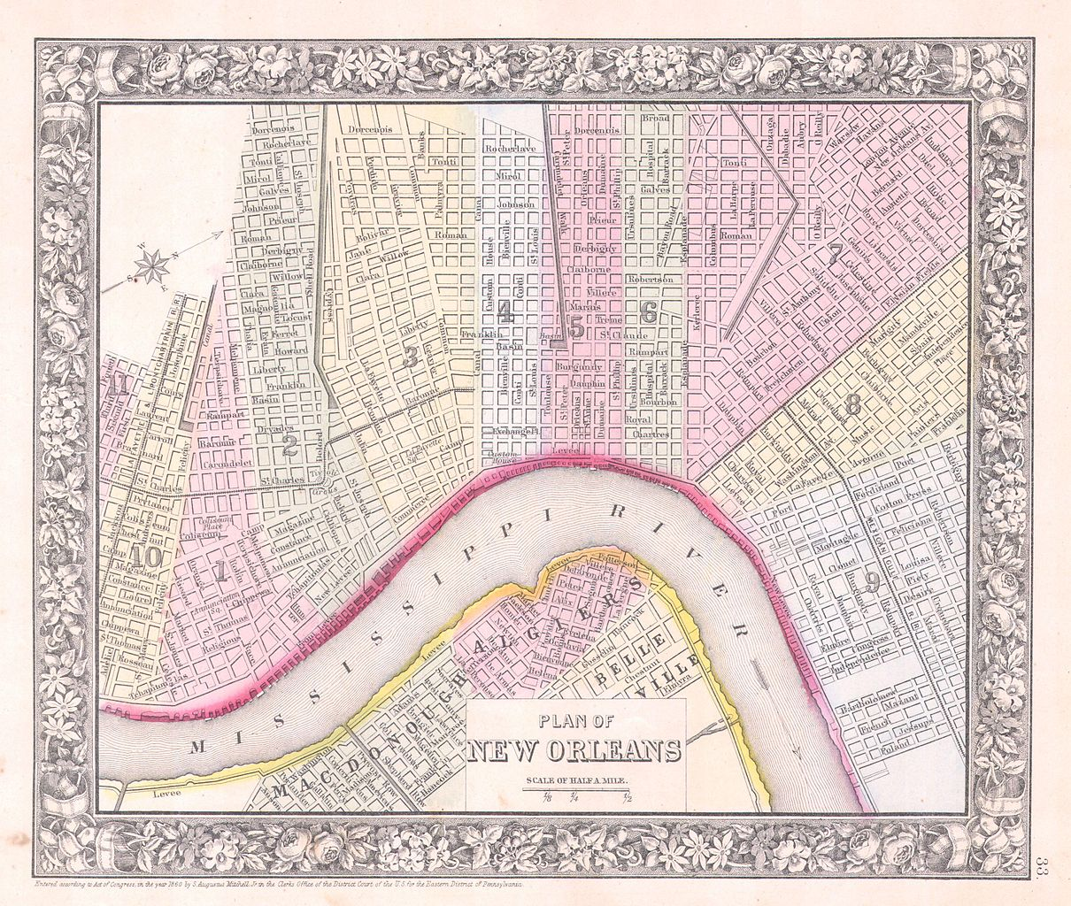 file 1864 mitchell map of new orleans  louisiana