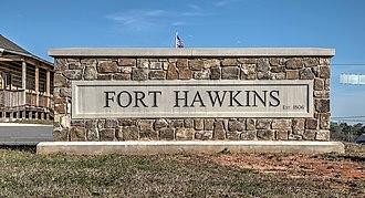 Fort Benjamin Hawkins - Image: 19 02 059 hawkins