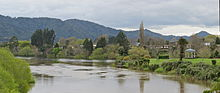 19-9-12 Ngaruawahia Point bandstand, Waipa and Waikato from bridge.JPG