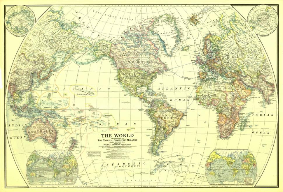 1922 world map