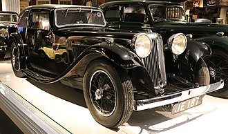 SS 1 - Image: 1933 SS 1 16HP Fixed Head Coupe Front