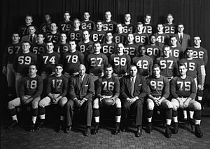 1955 Michigan Wolverines football team - Image: 1955 Michigan football team