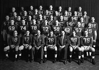 1955 Michigan Wolverines football team - Image: 1955 Michigan football team
